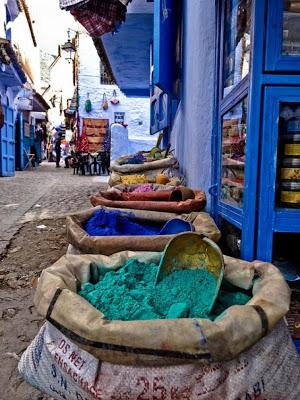 Blue Powder in Morocco