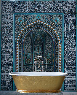 gold bath tub