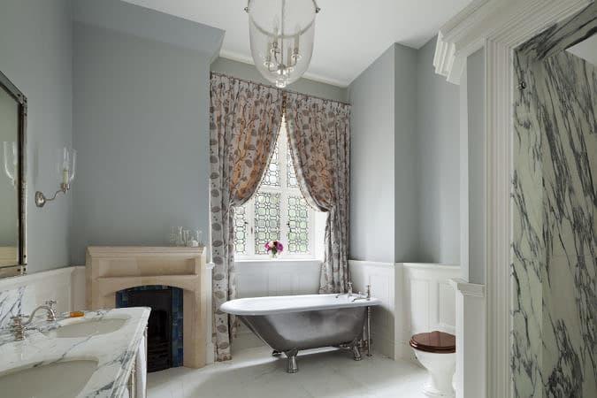 Classic Tudor Guest bathroom