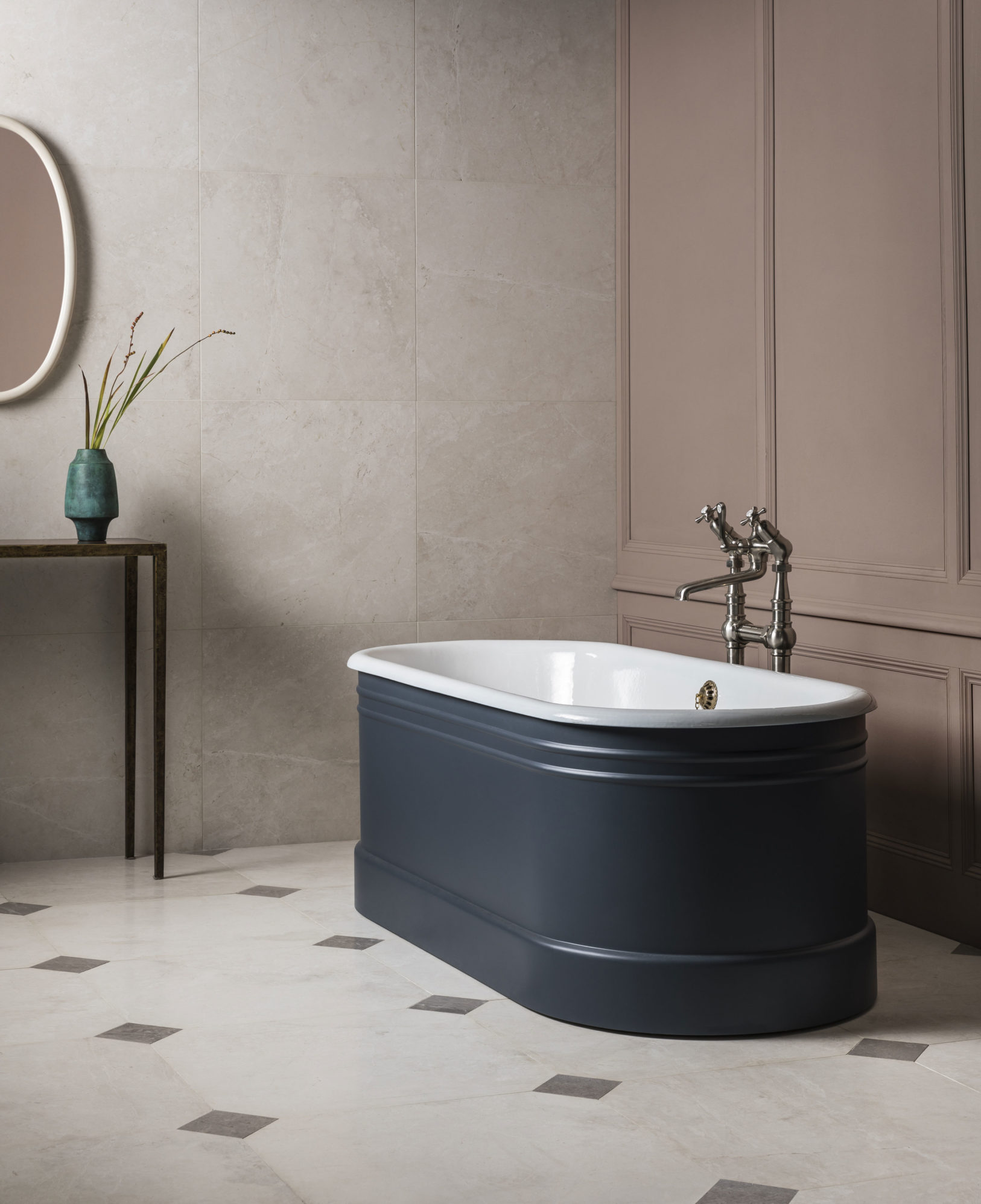 The Bute Cast Iron Bath Tub With Push Click Waste Drummonds Bathrooms