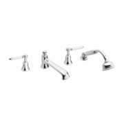 The Coll Lever 4-Hole Bath & Shower Mixer