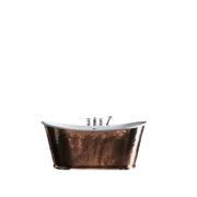 The Hammered Copper Usk Bateau Cast Iron Bath Tub