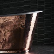 The Hammered Copper Usk Bateau Cast Iron Bath Tub