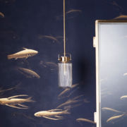 The Derwent Pendant Light With Fluted Shade