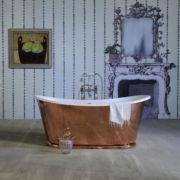 The Copper Usk cast iron batea bath tub
