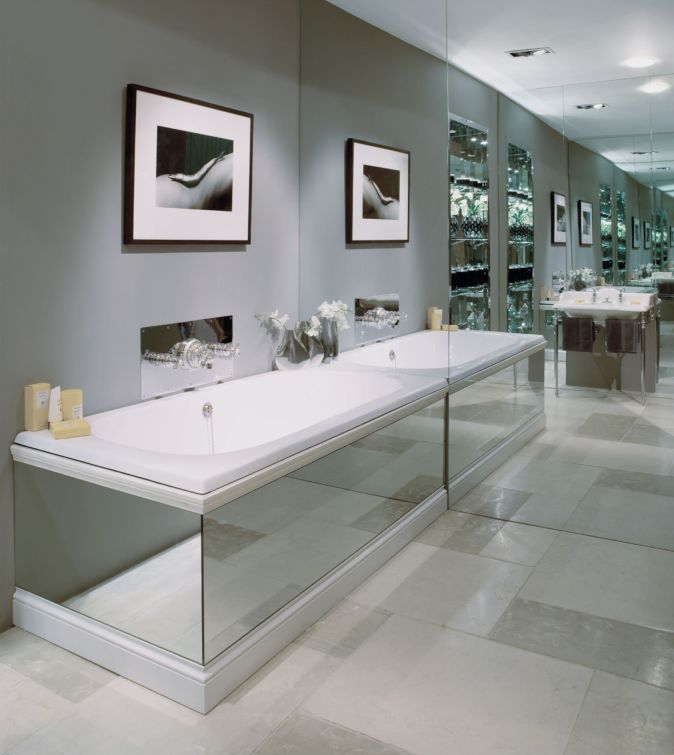 The Lomond overmounted cast iron bath tub