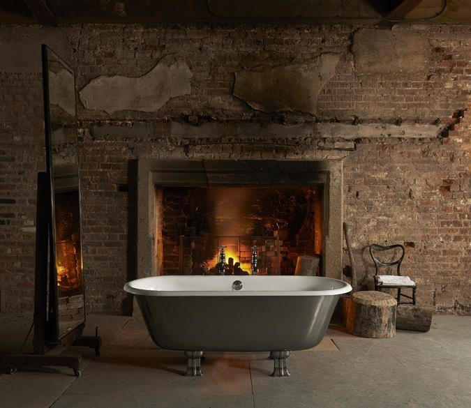 The Swale cast iron bath tub