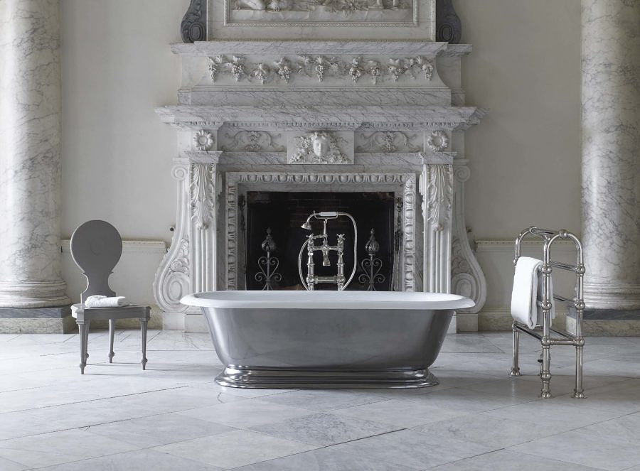 The Tay cast iron skirted bath tub