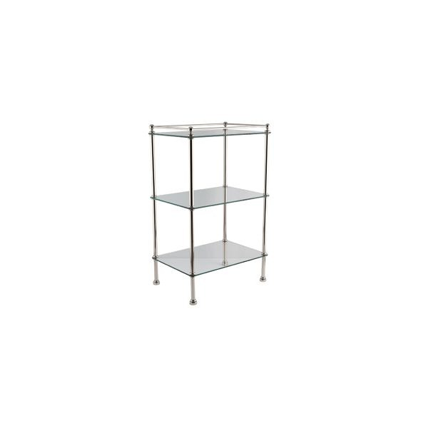 Accessory stand in nickel finish