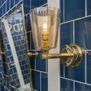 Bathroom Light With Antique Conical Shade