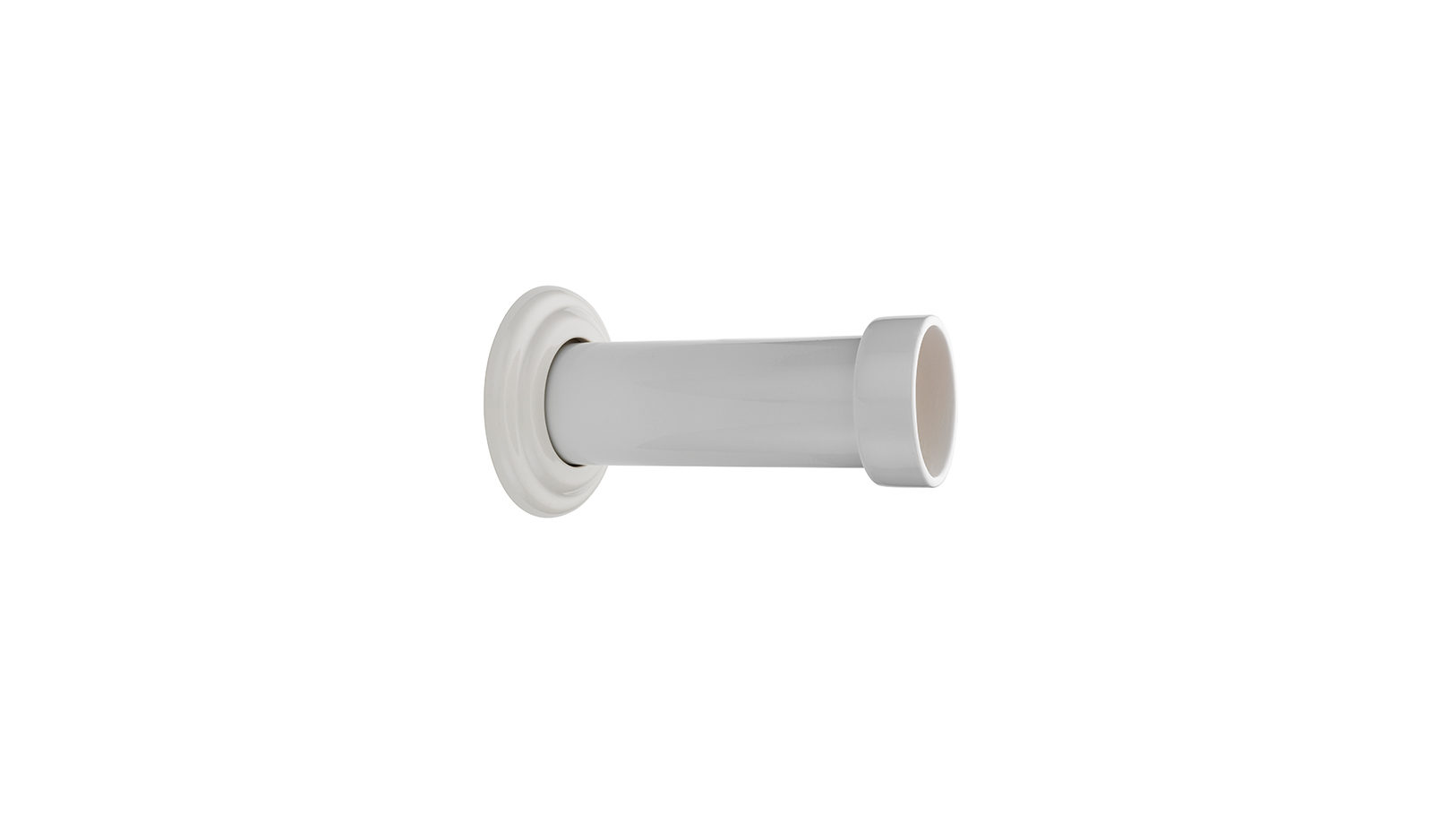 Extended Ceramic Soil Pipe Connector Into Wall