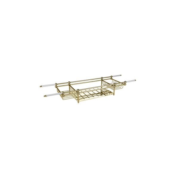 Large bath rack in brass finish