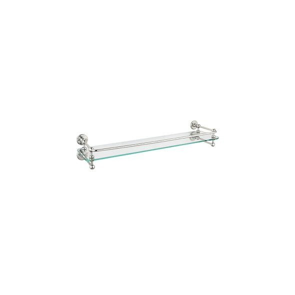 Single bathroom shelf in nickel finish