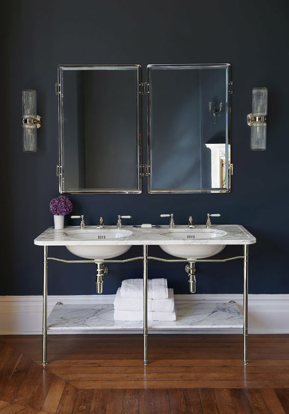 The Double Ladybower Vanity Basin in nickel finish