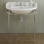The Kinloch China vanity basin in nickel finish