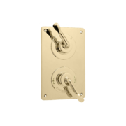The Leawood Shower Plate Thermo & On/Off