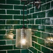 The Single Dalby Light, Cut Glass Shade
