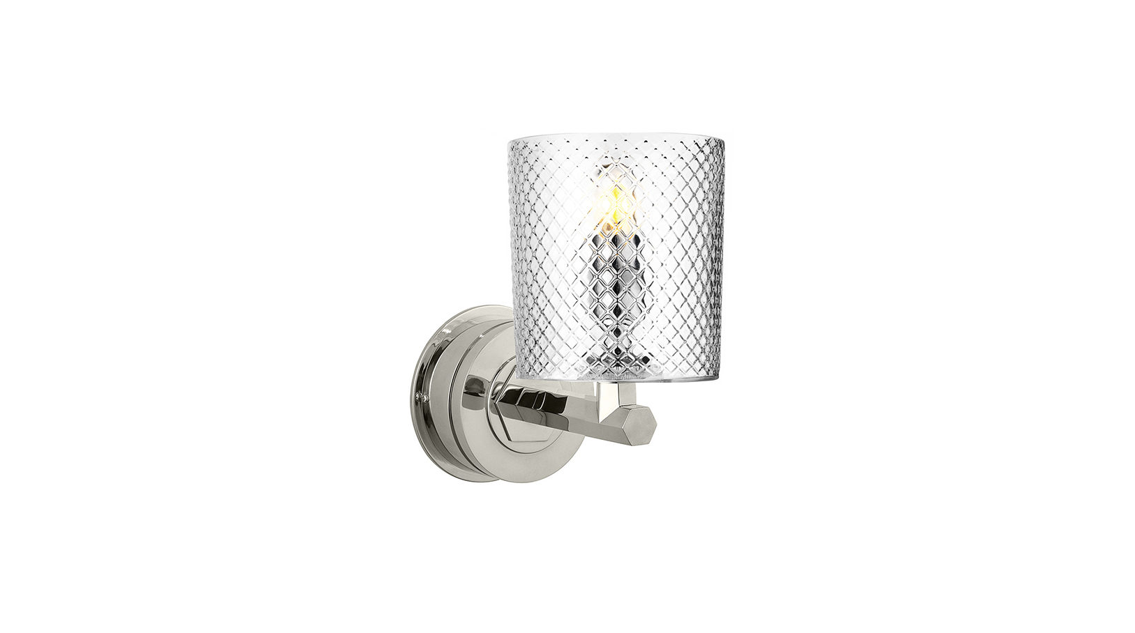 The Single Chessleton Light, Cut Glass Shade