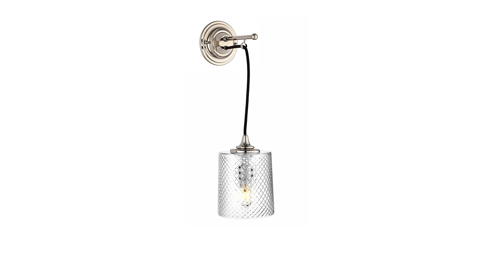 The Single Dalby Light, Cut Glass Shade