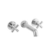 The Bestwood X Head Wall Mounted 3-Hole Bath Mixer