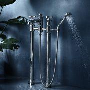 The Bestwood X Head Floor Standing Bath & Shower Mixer