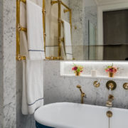 The Bute Cast Iron Bath Tub With Push Click Waste