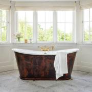 The Copper Usk Bateau Cast Iron Bath Tub
