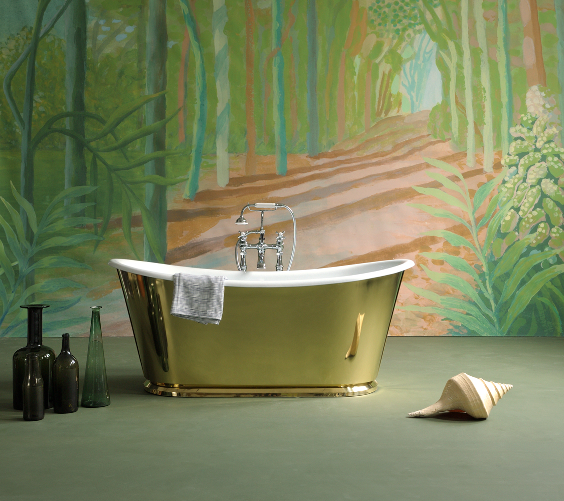 The Brass Usk Bateau Cast Iron Bath Tub