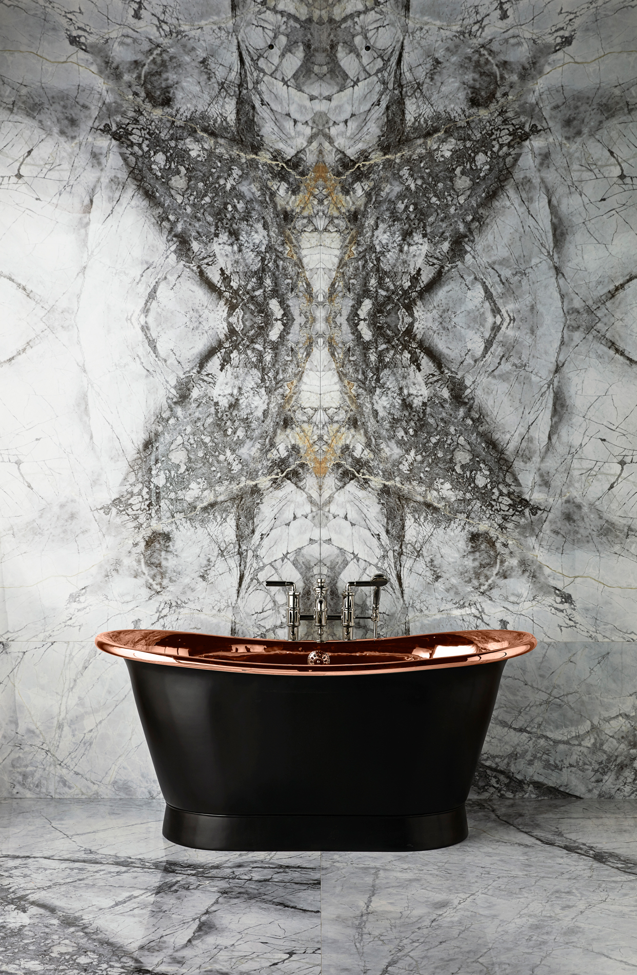 The Baby Tyne Copper Bath Tub With A Painted Exterior