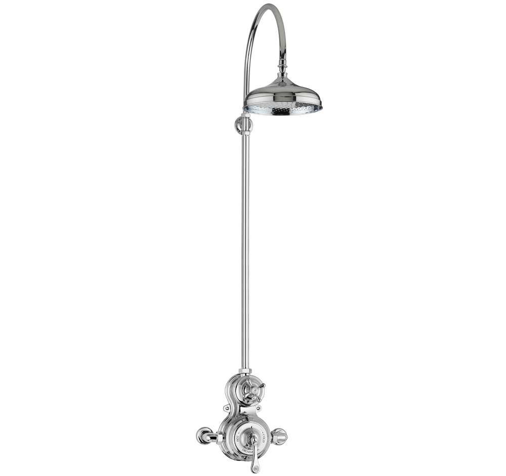 The Dalby Surface Mounted Shower, Curved Arm