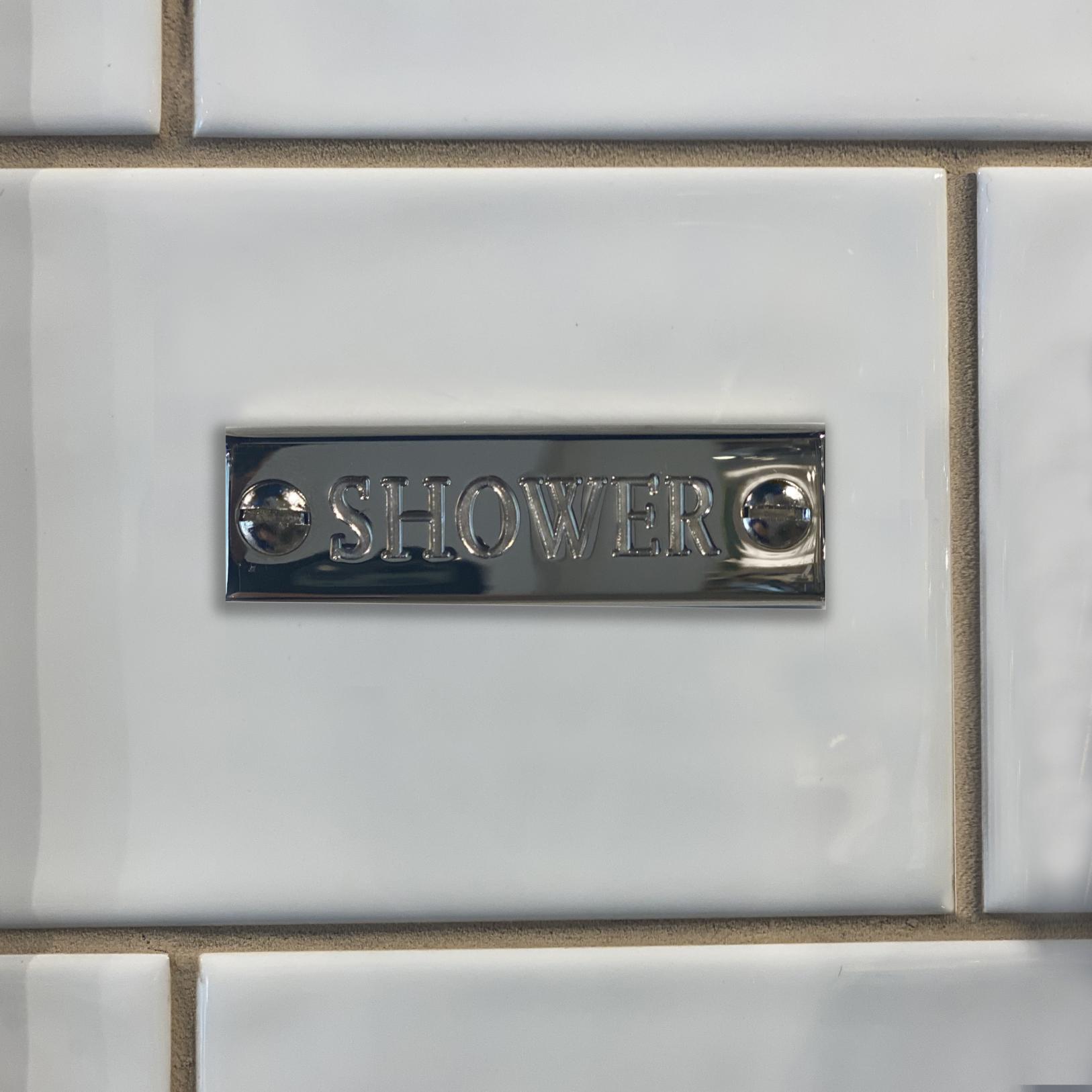 Shower Name Plates Set (Shower, Hand Shower, Bath)